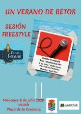 Una sesión de Freestyle Rap-Improvisación, segunda actividad del programa UN VERANO DE RETOS, de la Concejalía de Juventud de Molina de Segura, el miércoles 8 de julio