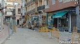 Entran en su última fase las obras de acondicionamiento de las aceras en la calle Juan XXIII
