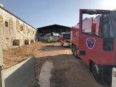 Incendio de una granja porcina en Puerto lumbreras