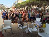 Cerca de 500 usuarios han participado este verano en el programa de viajes a la playa en la Cala del Pino