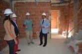 Las obras de construcción de cinco nuevas viviendas de promoción pública en Ojós 'avanzan a buen ritmo'