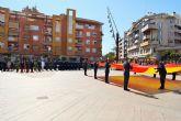 El consejero de Presidencia y Fomento participa en el homenaje a la bandera en Alcantarilla