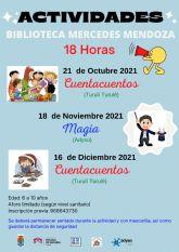 Vuelven las actividades de animación a la lectura en la Red de Bibliotecas de Molina de Segura