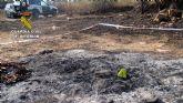 La Guardia Civil investiga a una persona  por originar un incendio forestal en Mazarrón