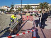Fomento inicia las obras de mejora del paseo marítimo de Villananitos en San Pedro del Pinatar