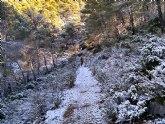 Caen las primeras nieves de este año en Sierra Espuña