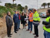 Fomento construye un carril peatonal paralelo a la carretera que une Abanilla y Mahoya