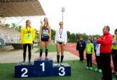 Oro para la mazarronera Miriam Sánchez en salto de longitud en la final regional cadete de atletismo