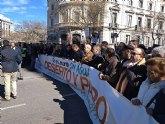 Autoridades municipales participaron hoy en la manifestación celebrada en Madrid para reivindicar agua para el Levante español