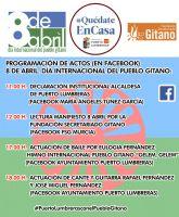 El Ayuntamiento de Puerto Lumbreras junto a la Fundación Secretariado Gitano celebran el Día Internacional del Pueblo Gitano con varias actividades a través de Facebook