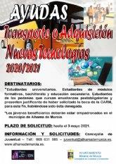 Ayudas de transporte y adquisición de nuevas tecnologías para estudiantes y universitarios del curso 2020-2021