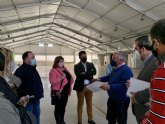 El recinto ferial de San Javier se estrena como sede de vacunación masiva en la comarca