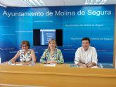 El Ayuntamiento de Molina de Segura consigue 10 millones de euros para la financiación de proyectos EDUSI