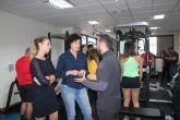 La alcaldesa visita a los alumnos del Ciclo Formativo de Acondicionamiento Físico
