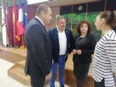 El alcalde acompaña al c�nsul honorario de Francia en la Regi�n de Murcia en una jornada formativa organizada por el Departamento de Lengua Francesa en el IES Prado Mayor