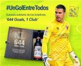 Andrés Fernandez, portero murciano de primera división, dona a Astrapace el regalo de Messi para lanzar la subasta solidaria 'un gol entre todos'