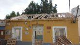 Obras de mejora estructural en la escuela unitaria de La Costera