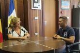 Visitación Martínez se reúne con el nuevo presidente de Cruz Roja Mar Menor Norte, Manuel Leal