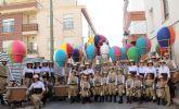Los chichilones en globo ganan el desfile de carrozas de Puerto Lumbreras