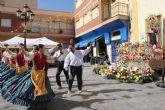 Centenares de lumbrerenses veneran con flores a Nuestra Señora la Virgen del Rosario