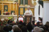 El Obispo de Cartagena oficia una multitudinaria misa solemne en honor a la Virgen del Rosario
