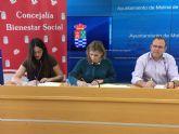 El Ayuntamiento de Molina de Segura firma un convenio de colaboración con Cruz Roja para ayudas de urgente necesidad y Socorros y Emergencias