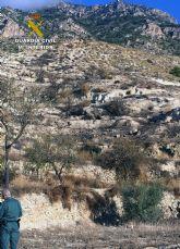 La Guardia Civil investiga a una persona por un incendio forestal en Fortuna