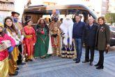 Los Reyes Magos de la Cofradía de Jesús de Murcia, un año más pasaron por la Casa-Taller de El Campico en Alcantarilla