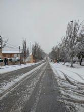 El temporal 'Filomena' regala dos días de nieve en Bullas