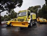 Habilitan 5 vehículos de las brigadas forestales como quitanieves en las comarcas y espacios naturales afectados por el temporal de nieve