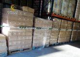 La Guardia Civil se incauta de más de 9.000 paquetes de toallitas de bebé en Puerto Lumbreras
