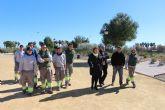 Los alumnos de 'Las Salinas II' renuevan la imagen del parque concejal José Antonio Pérez Henarejos