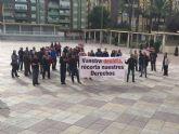 Agentes de la Policía Local de Molina de Segura se manifestaron ayer