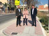 La remodelación del paseo que une Ceutí y Alguazas mejora la seguridad de los peatones