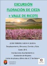 Igualdad organiza una excursión a la floración de Cieza y el Valle de Ricote