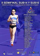 Veintiocho atletas de Club Atletismo Alhama presentes en la semifinal regional sub14 y sub16