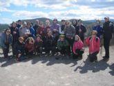 Un total de 28 senderistas participan en una nueva salida a la Sierra de Burete (Cehegín)