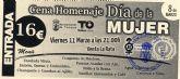 La cena conmemorativa del Día de la Mujer de Totana será este viernes en el restaurante 'Venta La Rata'