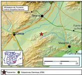 Se registra un terremoto de una magnitud de 3,2 con epicentro al sur del municipio de Totana, en la diputación de El Raiguero