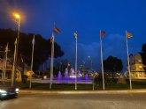 Torre Pacheco se ilumina de morado para conmemorar el Día Internacional de las Mujeres