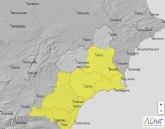 Alerta amarilla en Cieza por fuertes lluvias