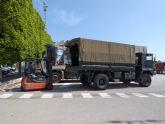 La Delegaci�n del Gobierno coordina con el Ej�rcito de Tierra y la Armada el reparto de sesenta toneladas de alimentos de C�ritas a diversas localidades de la Regi�n de Murcia