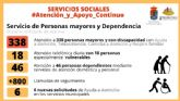 La Concejalía de Bienestar Social de Molina de Segura garantiza la atención de 338 personas mayores y personas con discapacidad mediante Ayuda a Domicilio, Teleasistencia, Comidas a Domicilio y Respiro Familiar durante el estado de alarma