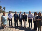 El consejero de Cultura, Turismo y Medio Ambiente, Javier Celdrán dedicó su primera visita oficial a San Javier