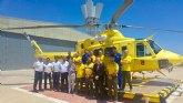 El director general visita las instalaciones de los servicios regionales de emergencias en la Base Aérea de Alcantarilla