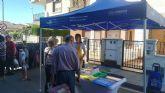 La concejalía de Medio Ambiente lleva los mercados semanales la campaña contra el plástico