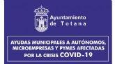 Los empresarios interesados de Totana ya pueden solicitar las ayudas municipales para el mantenimiento de la actividad y el empleo por los daños ocasionados a raíz del COVID-19