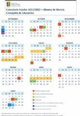 Calendario escolar Alhama 2021-2022