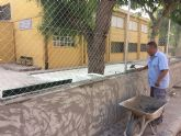 Acometen actuaciones urgentes en varios colegios de Totana aprovechando las vacaciones escolares de verano