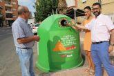 'Recicla Vidrio y Pedalea' anima al reciclaje en Puerto Lumbreras durante 'La Vuelta 2018'